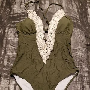 Olive Green (NWT) Bathing Suit